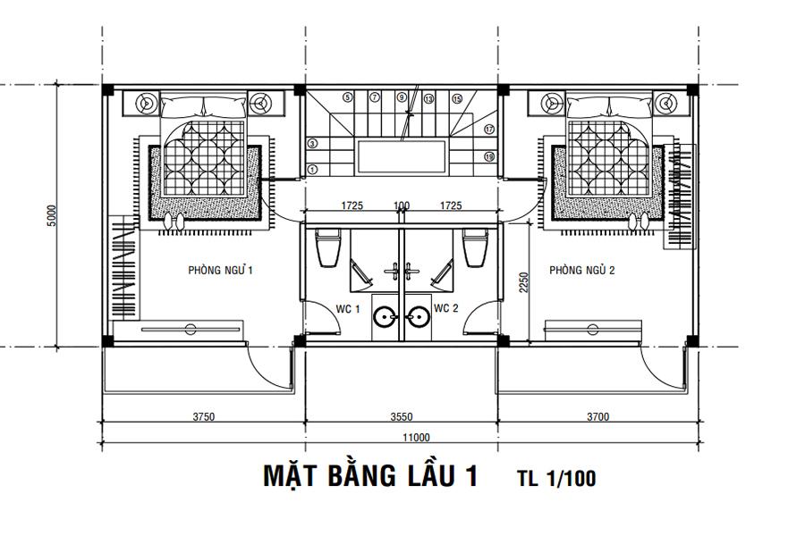 Bảng vẽ thiết kế dự án nhà phố đức hòa giá rẻ tại Long An.