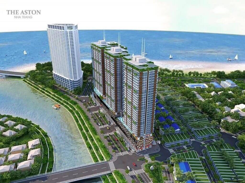 Phối cảnh tổng thể dự án căn hộ The Aston Luxury Nha Trang