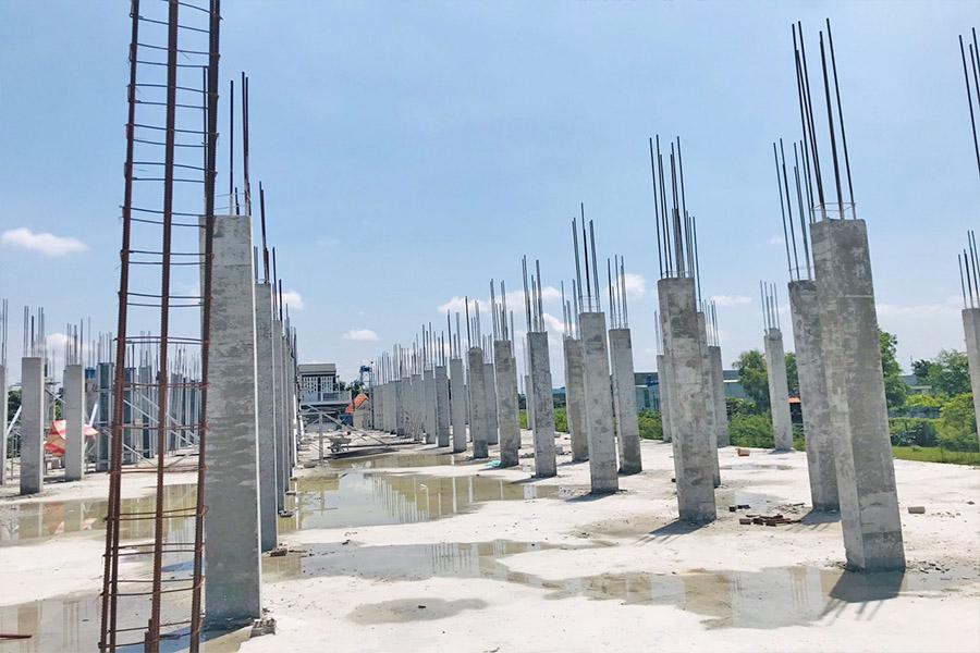 Cập nhật tiến độ mới nhất dự án chung cư mimi Đại Lộc đã hoàn thiện xong phần móng và bắt đầu thi công lên tầng 1.