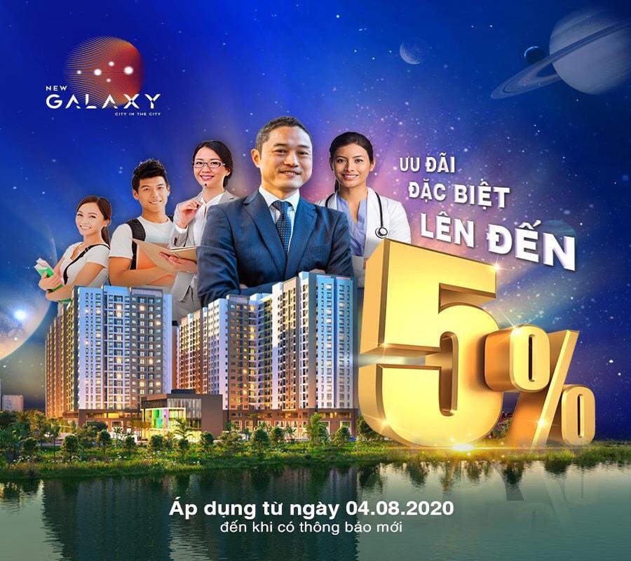 Khách hàng mua căn hộ New Galaxy sẽ được nhận chương trình ưu đãi khủng lên tới 5%