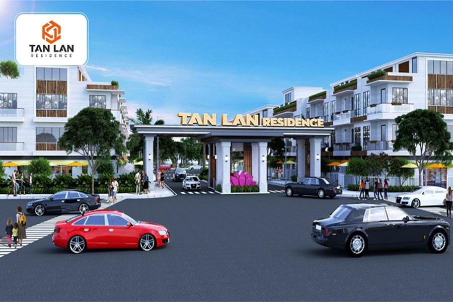Cổng chào dự án Tân Lân Residence chủ đầu tư Phúc Land Group