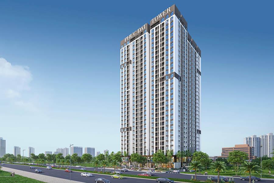 Dự án khu căn hộ cao cấp Phúc Đạt Tower thuộc Dĩ An, Bình Dương