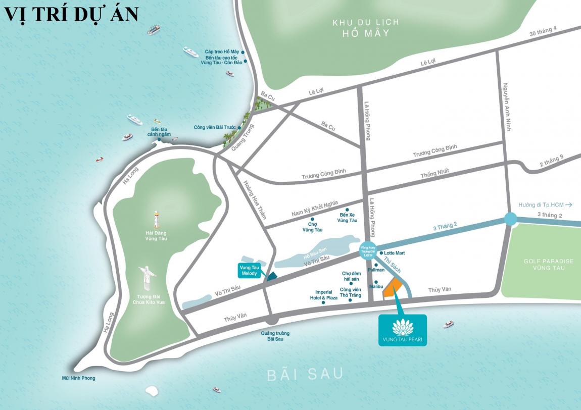 Bản đồ vị trí căn hộ Vung Tau Pearl
