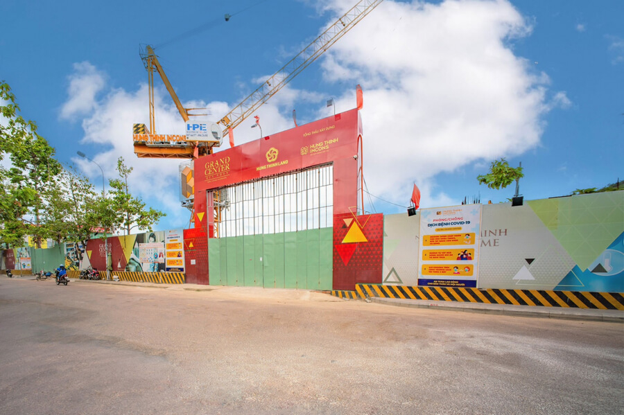 Hình ảnh mới nhất dự án căn hộ Grand Center Quy Nhơn Hưng Thịnh tháng 7/2021