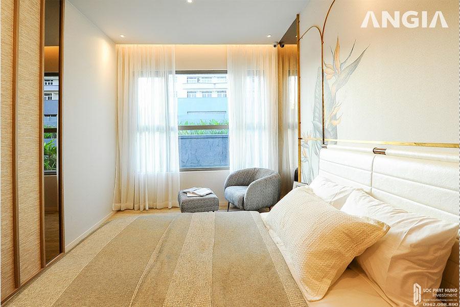 Không gian phòng ngủ ấm cúng căn hộ mẫu dự án West Gate Bình Chánh