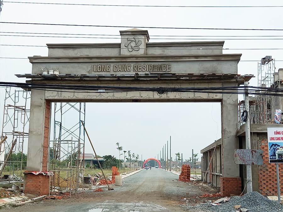 Cổng chào dự án khu đô thị Long Cang Residence