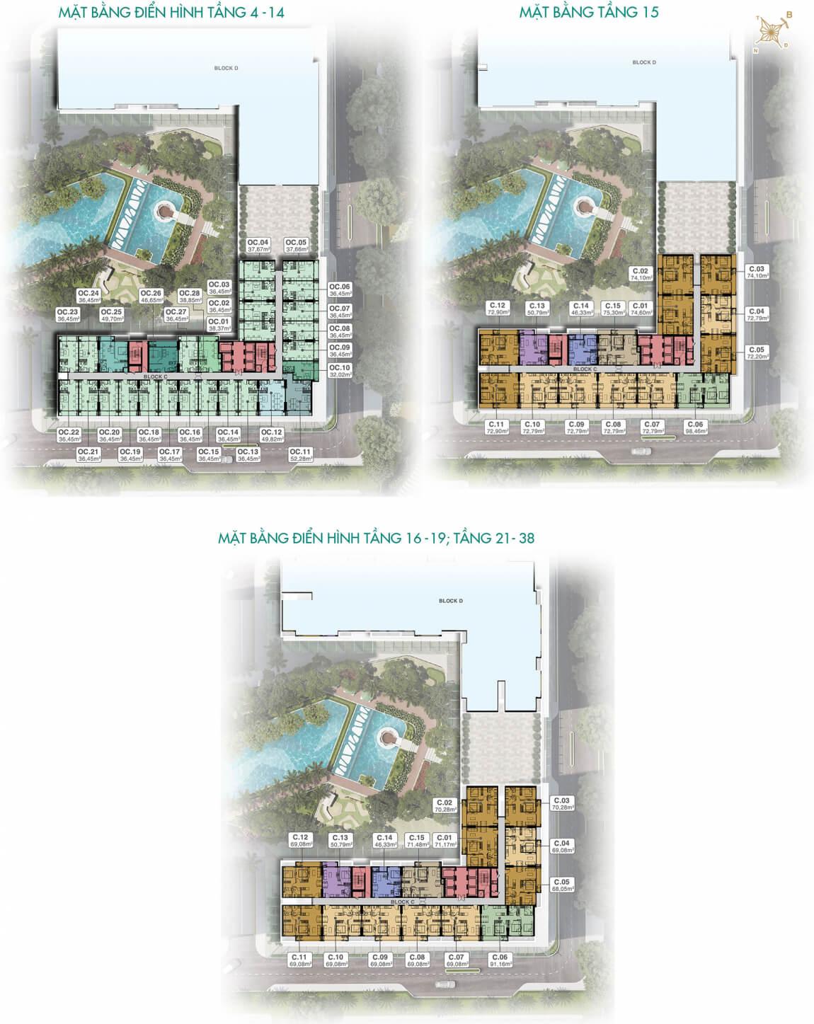Mặt bằng Block C dự án Lavita Thuận An Hưng Thịnh