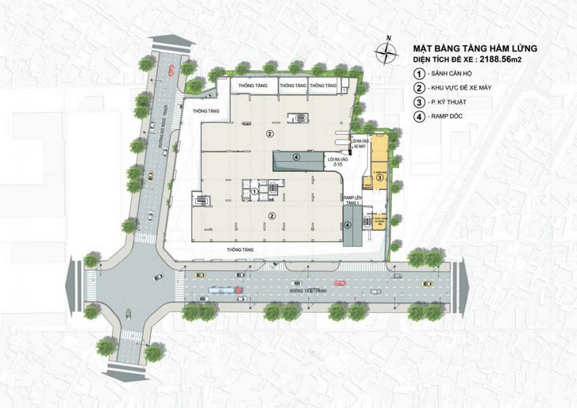 Mặt bằng sân thượng dự án căn hộ chung cư Venus Luxury Quận 5, chủ đầu tư Tân Thành.