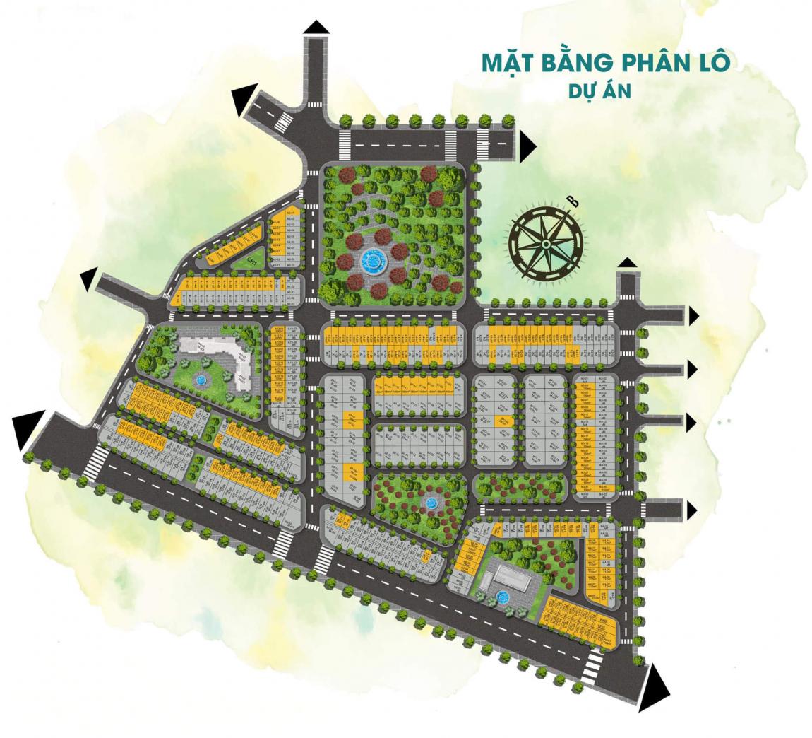 Mặt bằng phân lô khu đô thị Long Kim Residence Bến Lức