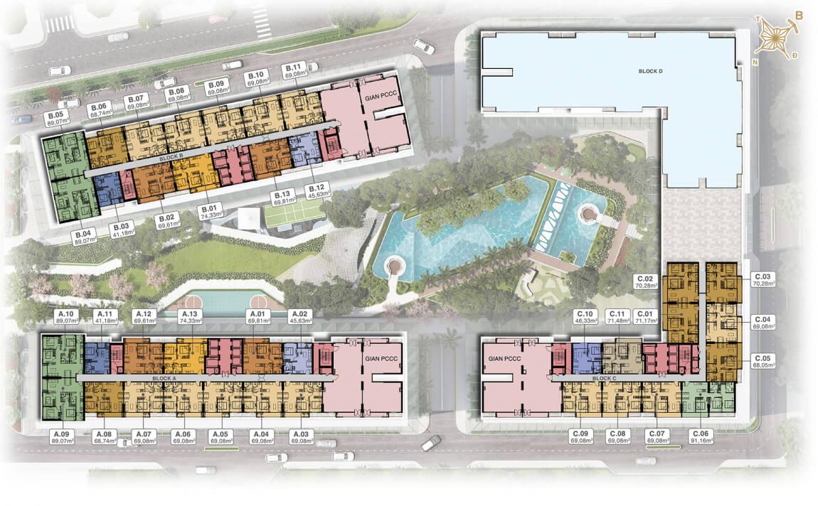 Mặt bằng tầng 20 dự án căn hộ Lavita Thuận An Hưng Thịnh