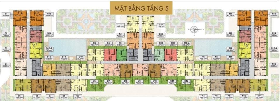 Mặt bằng căn hộ Saigon Mia