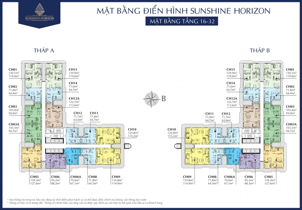 Mặt bằng tầng điển hình dự án căn hộ Sunshine Horizon quận 4