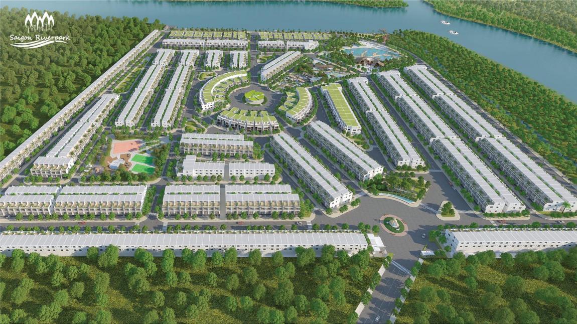 Hình ảnh tổng thể khu đô thị mới Saigon Riverpark tại huyện Cần Giuộc - Long An