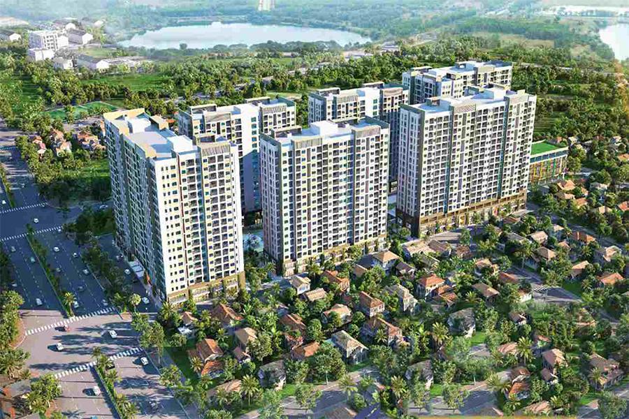 Phối cảnh tổng thể dự án căn hộ 9x Next Gen Bình Dương của tập đoàn Hưng Thịnh.