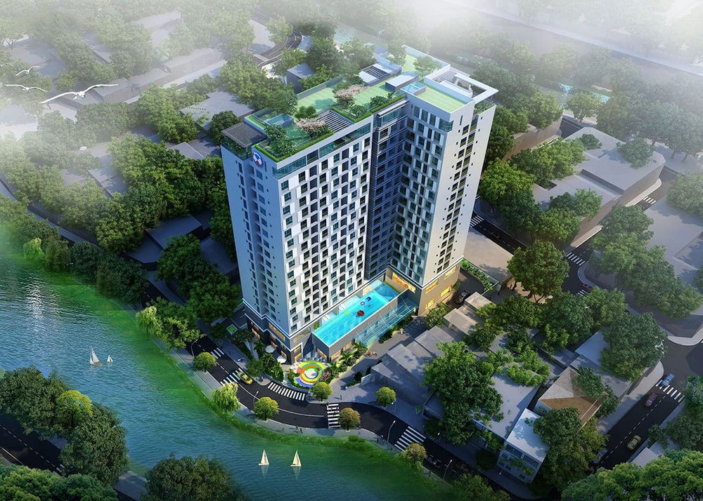 Phối cảnh tổng quan dự án căn hộ cao cấp Happy One Premier Thạnh Lộc, Quận 12