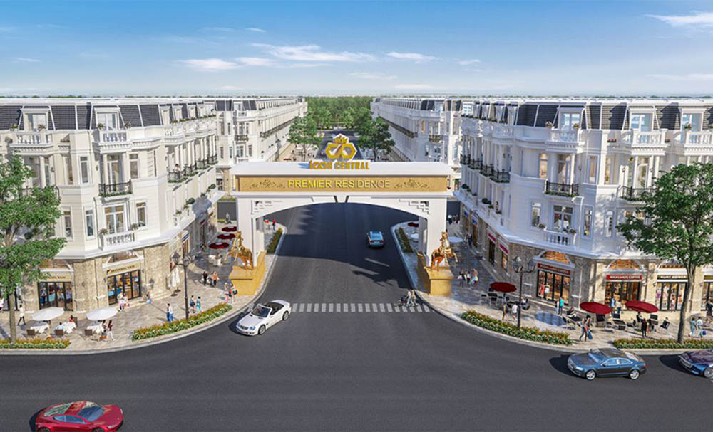 Phối cảnh dự án đất nền và shophouse thương mại Icon Central tại Dĩ An, Bình Dương
