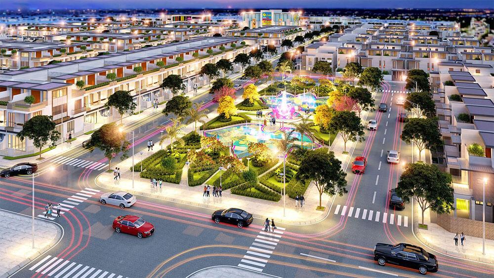 Phối cảnh tổng thể dự án Tân Lân Residence mặt tiền quốc lộ 50