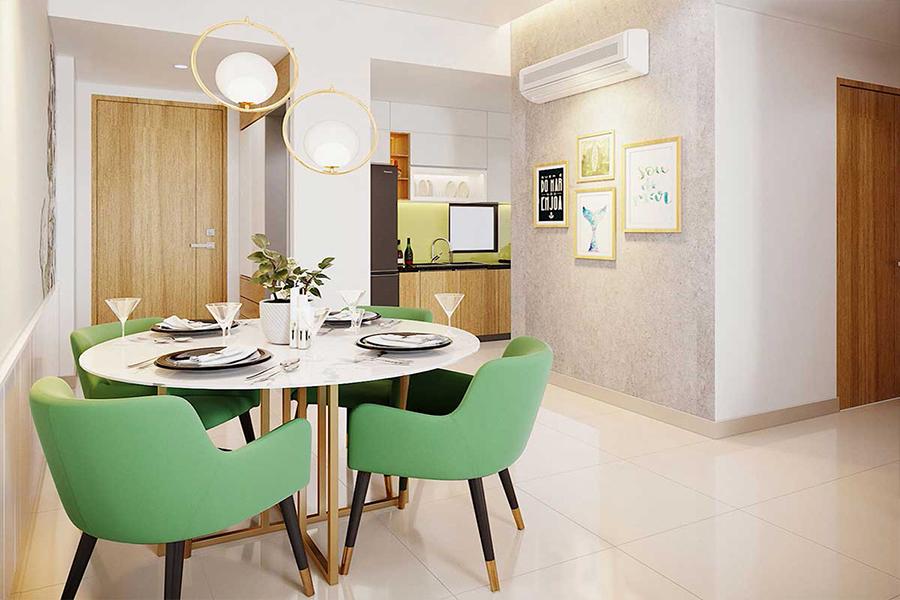 Phòng ăn nhà mẫu dự án căn hộ icon plaza bình dương