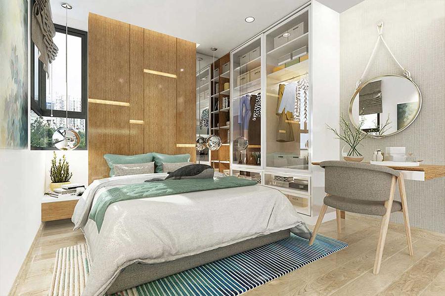 Phòng ngủ nhà mẫu dự án căn hộ icon plaza bình dương