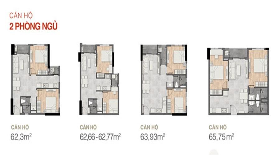 Thiết kế căn hộ 2 phòng ngủ dự án New Galaxy - Hưng Thịnh Corp