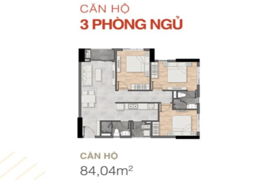 Thiết kế căn hộ 3 phòng ngủ dự án New Galaxy - Hưng Thịnh Corp