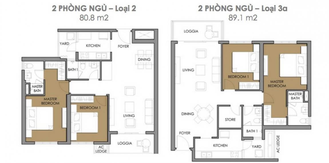 Thiết kế căn hộ 1 phòng ngủ dự án Astral City Bình Dương