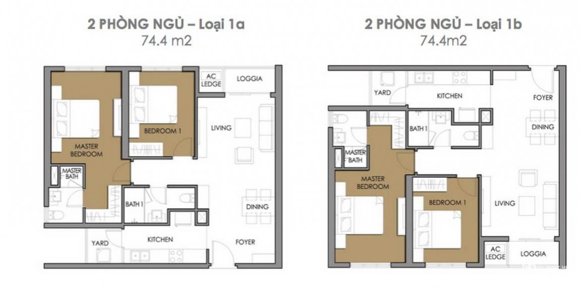 Thiết kế căn hộ 2 phòng ngủ dự án Astral City Bình Dương