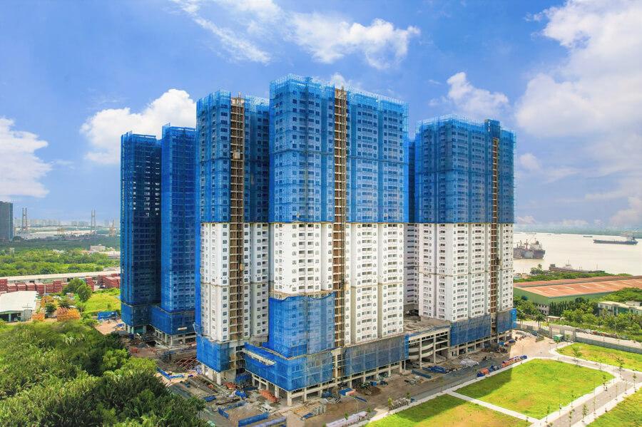Hỉnh ảnh thực tế tiến độ xây dựng mới nhất dự án Q7 Saigon Riverside Complex (tt)