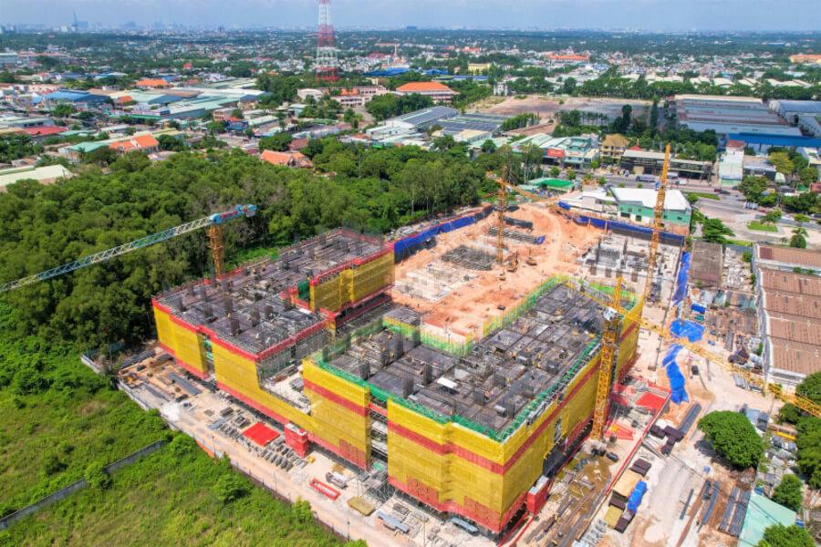 Hình ảnh thực tế tiến độ thi công dự án Lavita Thuận An tháng 07/2021