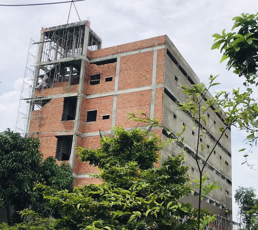 Dự án chung cư mini Đại Lộc Tân Đức về cơ bản đã hoàn thiện xong phần thô của toàn bộ tòa nhà
