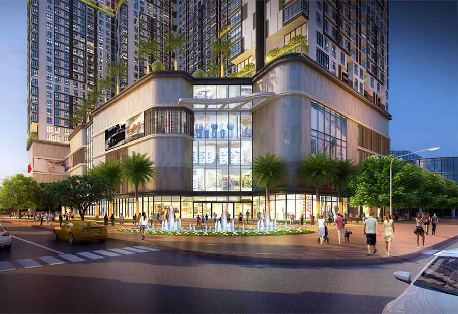 Tiện ích siêu thị, cửa hàng và trung tâm thương mại dự án King Crown Infinity