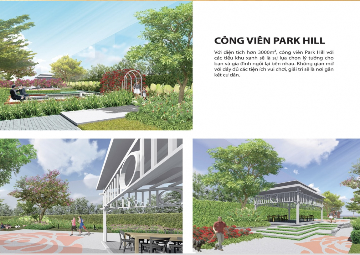 Tiện ích công viên nội khu với rất nhiều cây xanh tại dự án Tây Nam Center