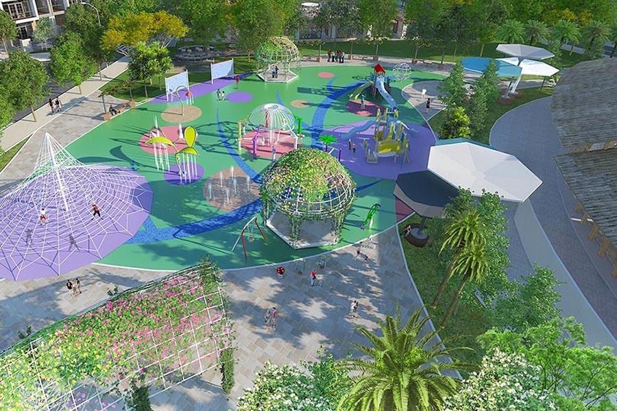 Khu vui chơi trẻ em tại dự án đất nền Saigon Riverpark Cần Giuộc