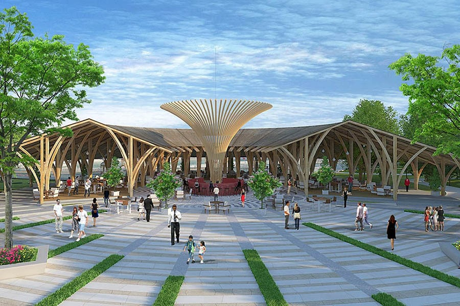 Nhà hàng ẩm thực sang trọng chuẩn châu âu tại dự án Saigon Riverpark Cần Giuộc Long An