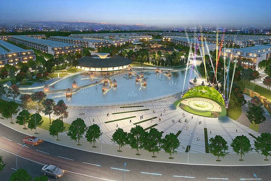 Quảng trường sự kiện tại dự án Saigon Riverpark Cần Giuộc Long An