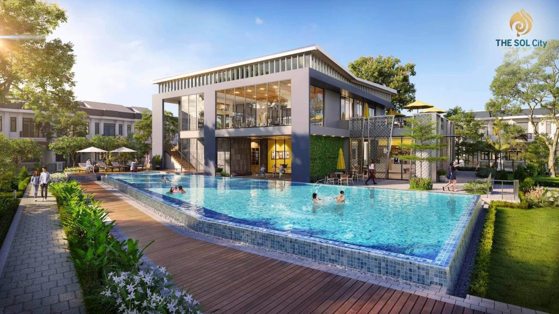 Tiện ích hồ bơi dự án The Sol City Thắng Lợi Group