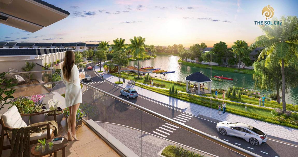 Tiện ích công viên ven sông dự án The Sol City Thắng Lợi