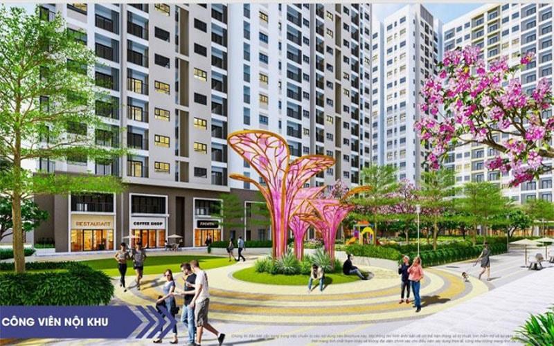 Tiện ích công viên nội khu tại dự án căn hộ New Galaxy Hưng Thịnh
