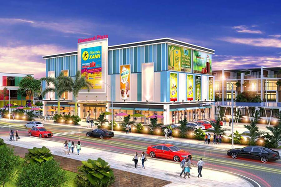 Tiện ích trung tâm thương mại tại dự án Tân Lân Residence Long An
