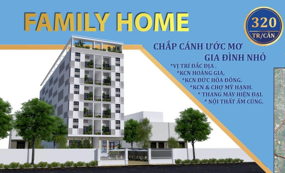 Phối cảnh dự án căn hộ mini Family Home Long An