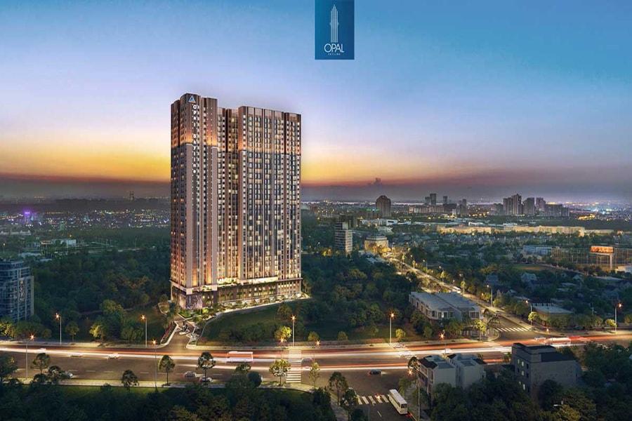 Phối cảnh tổng quan dự án căn hộ Opal Skyline Bình Dương chủ đầu tư Đất Xanh Group