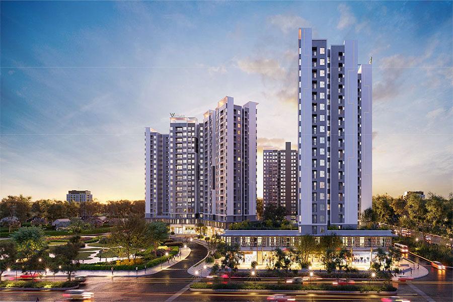 Phối cảnh tổng thể khu căn hộ cao cấp West Gate Bình Chánh - chủ đầu tư An Gia