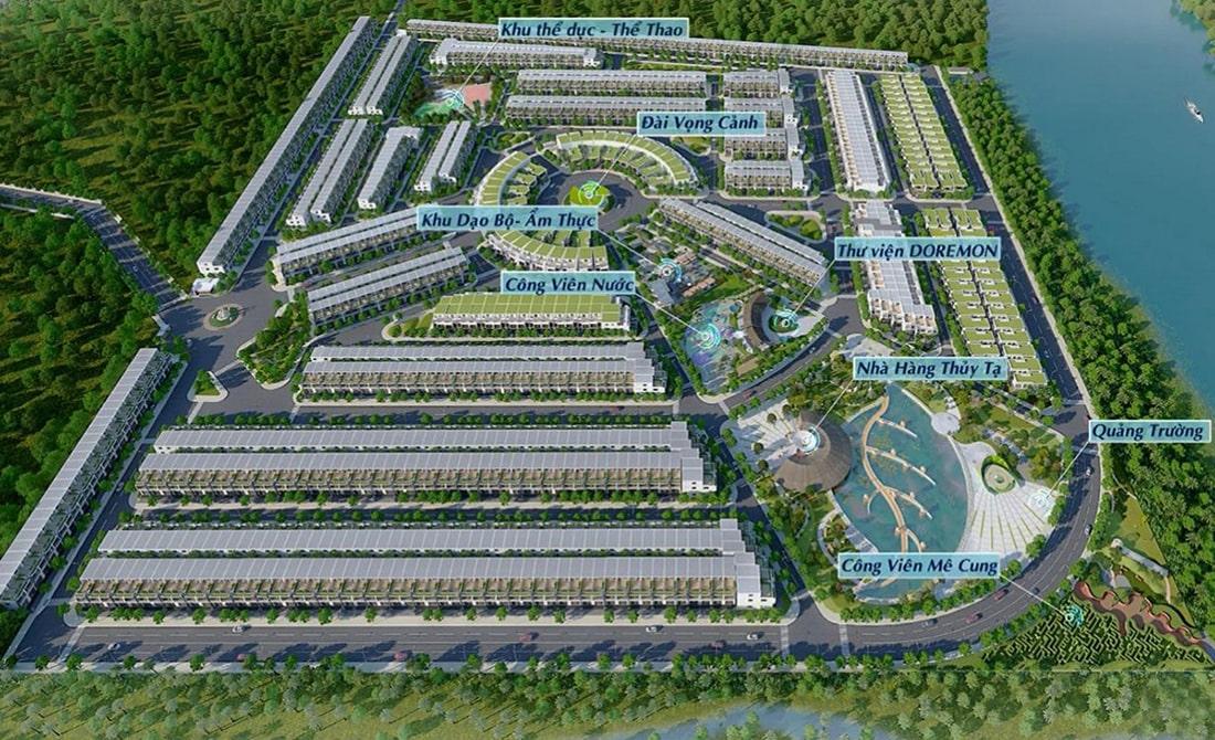Toàn cảnh dự án đất nền Saigon Riverpark tọa lạc trên mặt tiền quốc lộ 50
