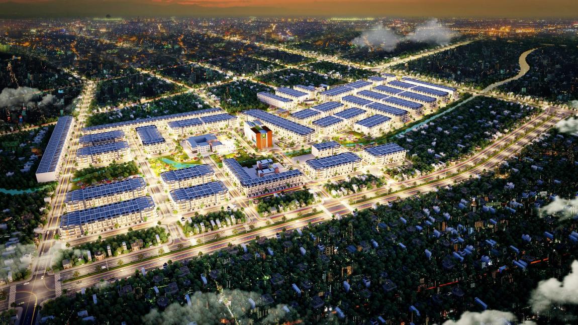 Phối cảnh tổng quan dự án khu đô thị Long Cang Residence