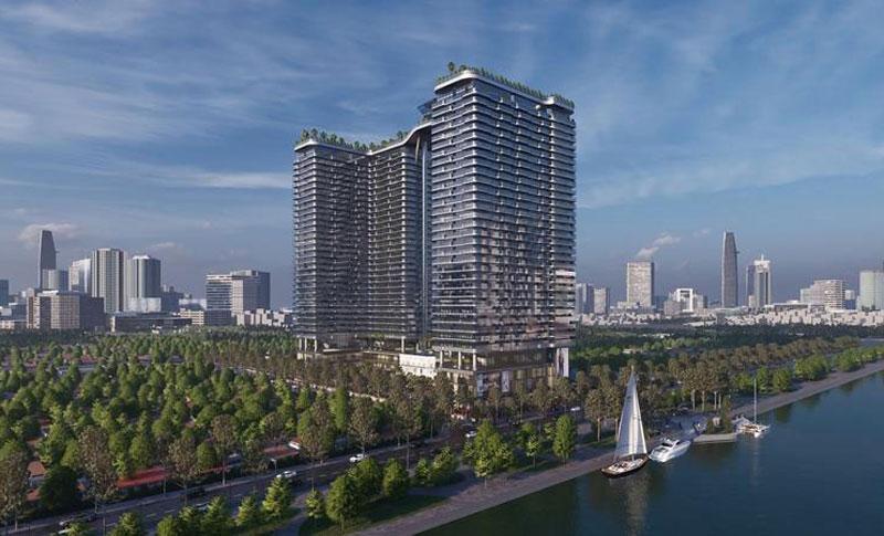 Phối cảnh tổng thể dự án căn hộ khách sạn resort 5* Sunshine Horizon tại trung tâm quận 4