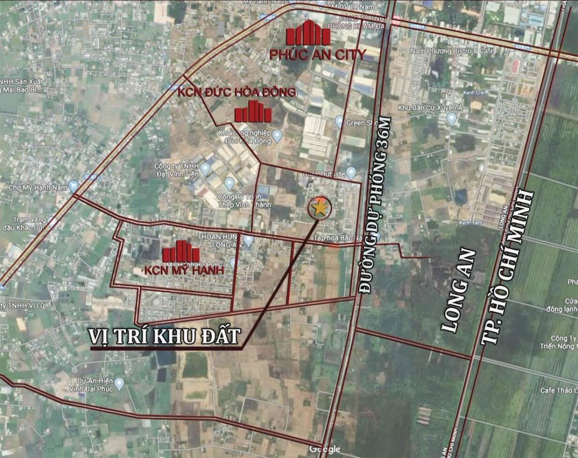 Bản đồ vị trí dự án căn hộ Family Home tại Xã Mỹ Hạnh Nam - Đức Hòa - Long An