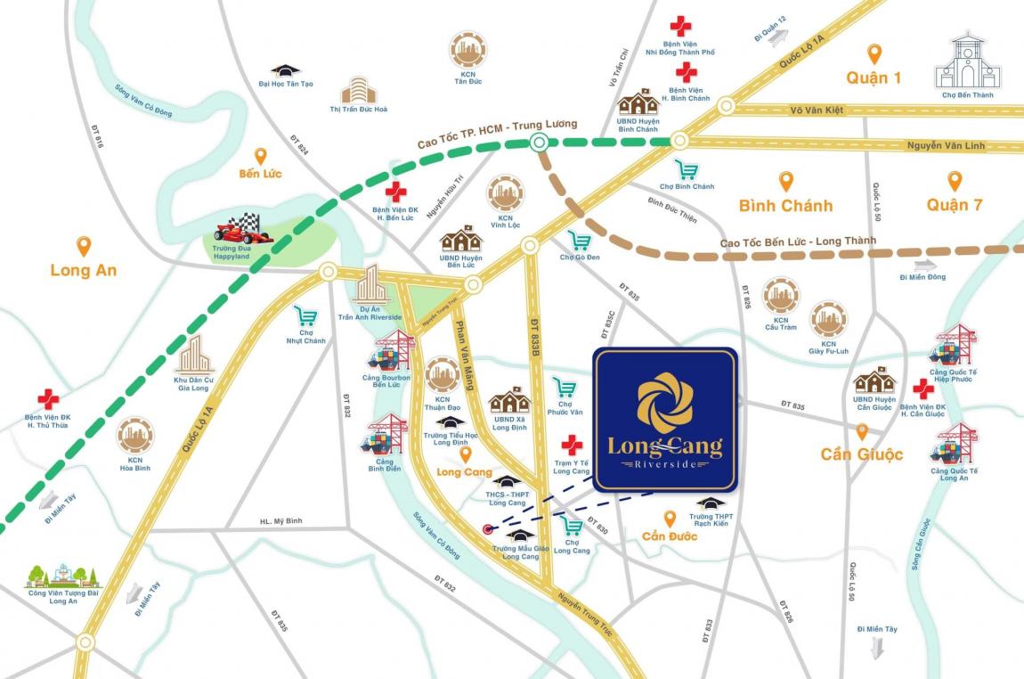 Sơ đồ vị trí dự án khu đô thị Long Cang Residence