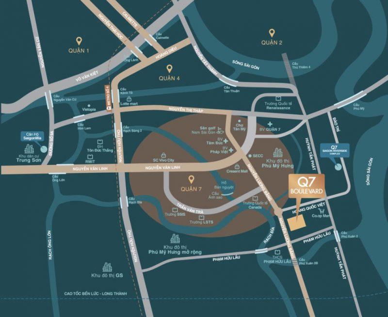 Vị trí dự ánQ7 Boulevard Hưng Thịnh