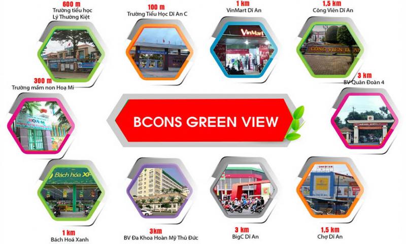 Tiện ích dự án Bcons Green View Dĩ An Bình Dương