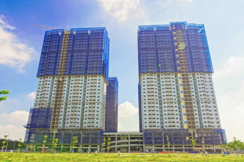 Hỉnh ảnh thực tế tiến độ xây dựng mới nhất dự án Q7 Saigon Riverside Complex
